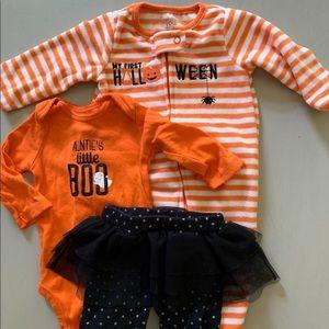 Baby Halloween sleeper set
